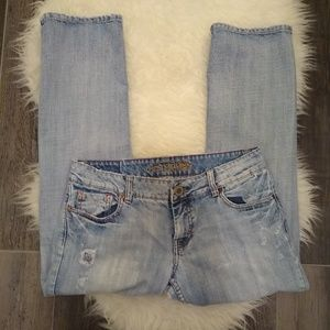 American Eagle women's distressed jeans. Size 8